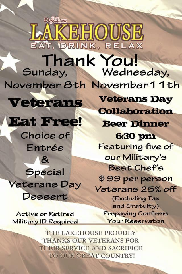 Veterans Day Vets Eat Free 2015