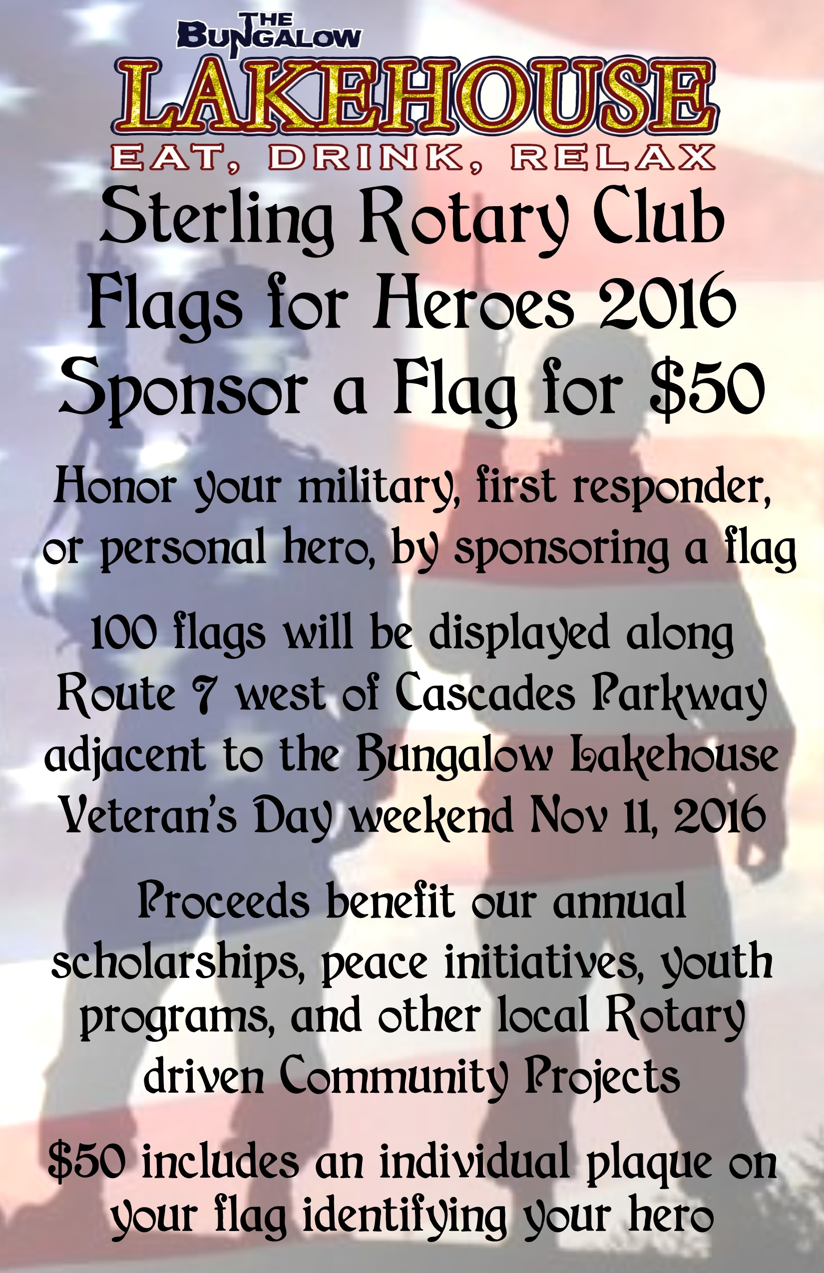 Flags for heros 11x17