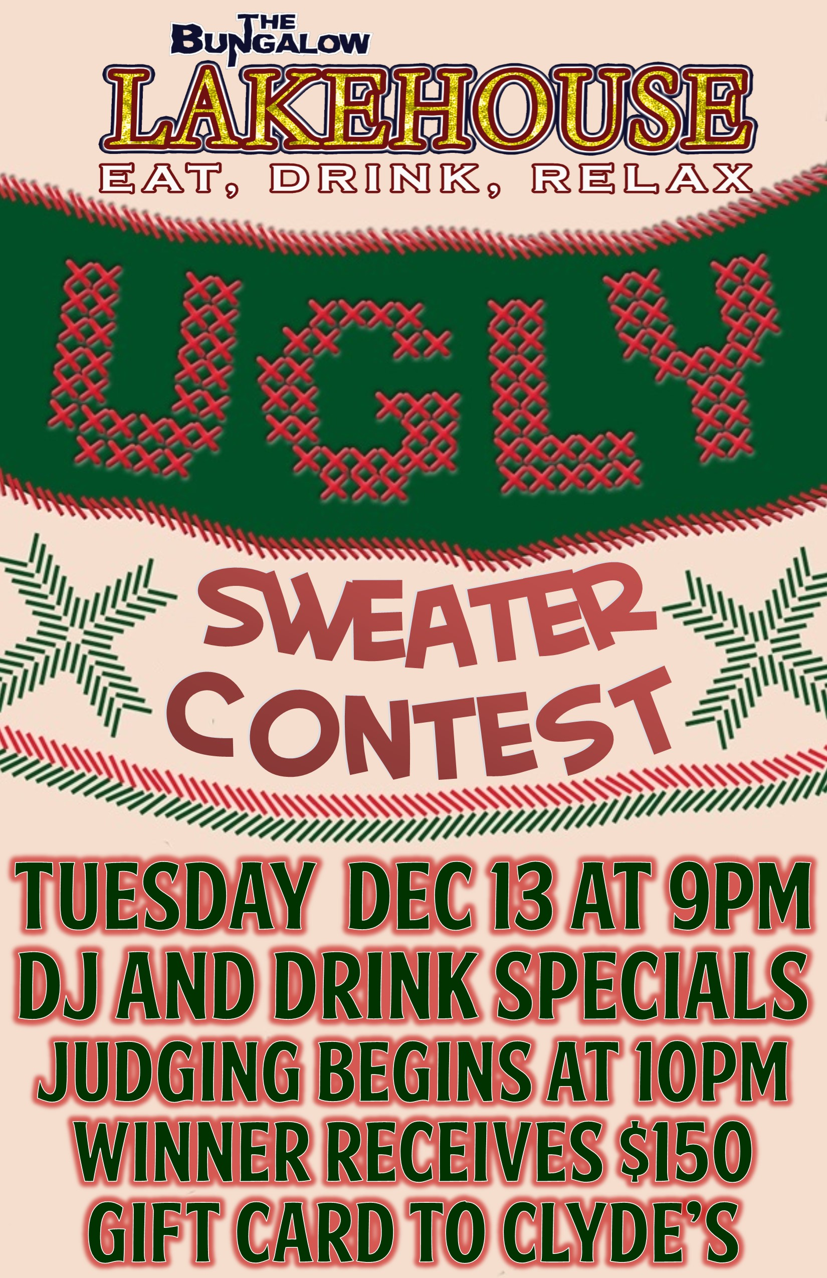 Ugly Sweater Contest 11x17