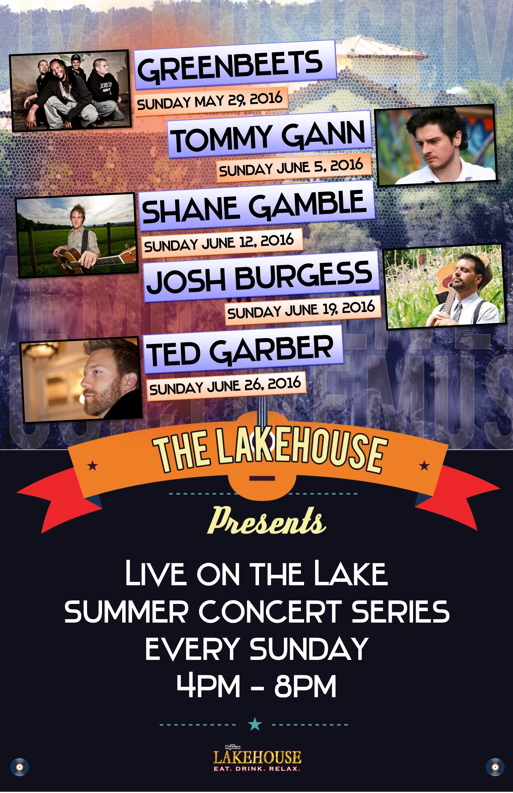Lakehouse Music MAY-JUNE  2016