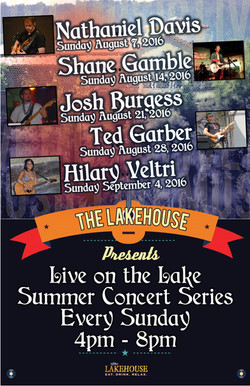 Lakehouse Live Music august 2016