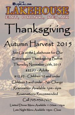 Thanksgiving Lakehouse 2015