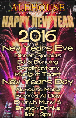 New years alehouse 2015/2016