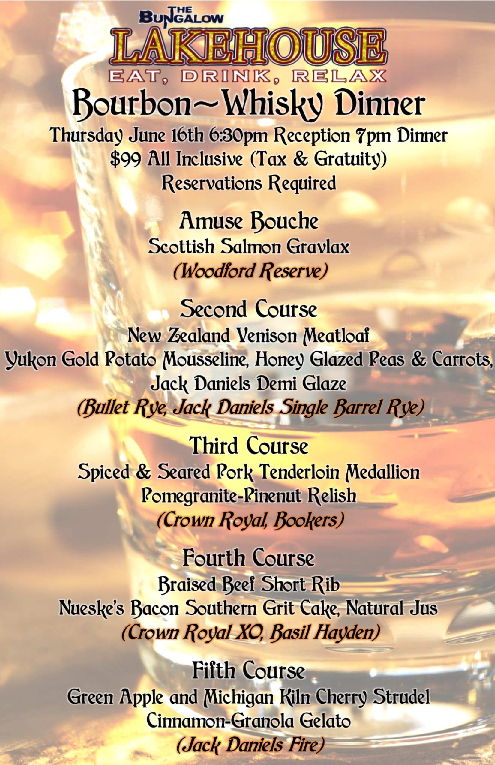 whisky dinner Lakehouse 2016