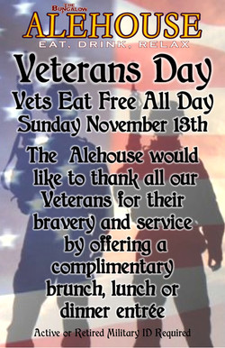 Veterans Day 2016 Alehouse 11x17