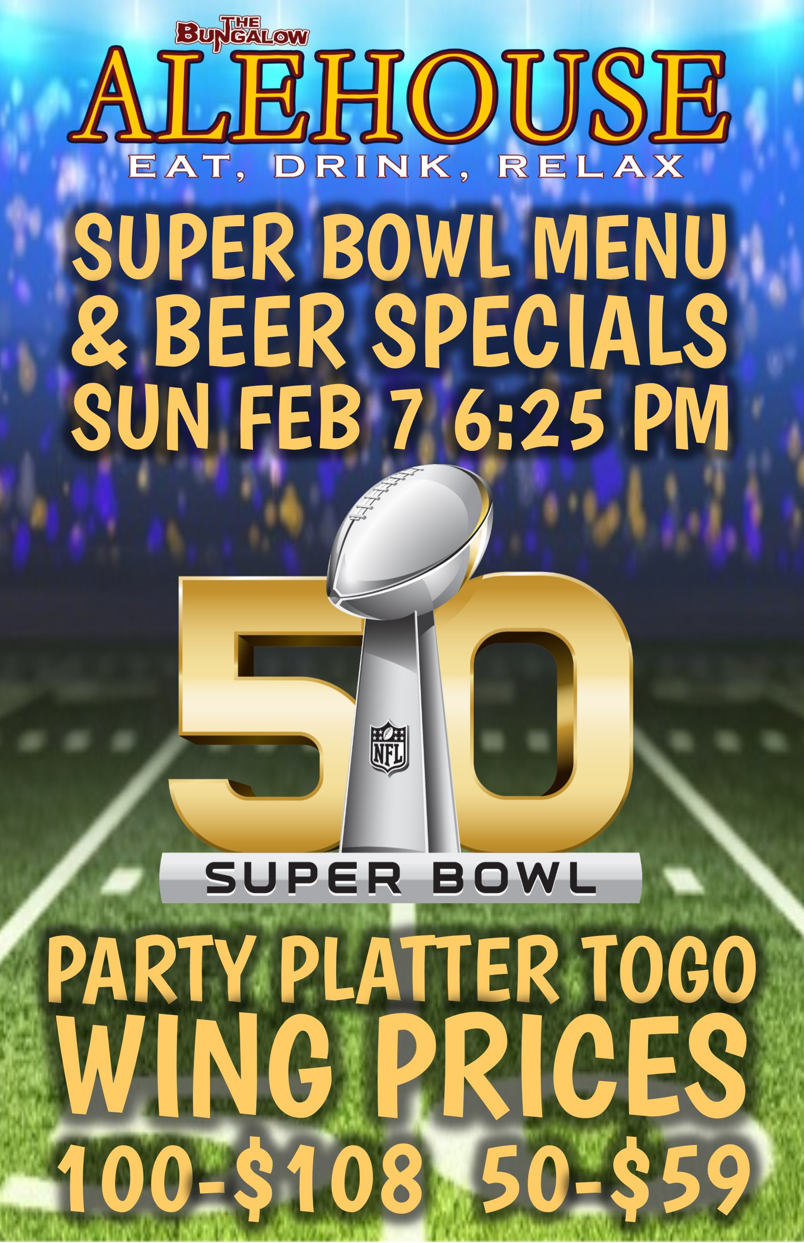 Alehouse super bowl 2016