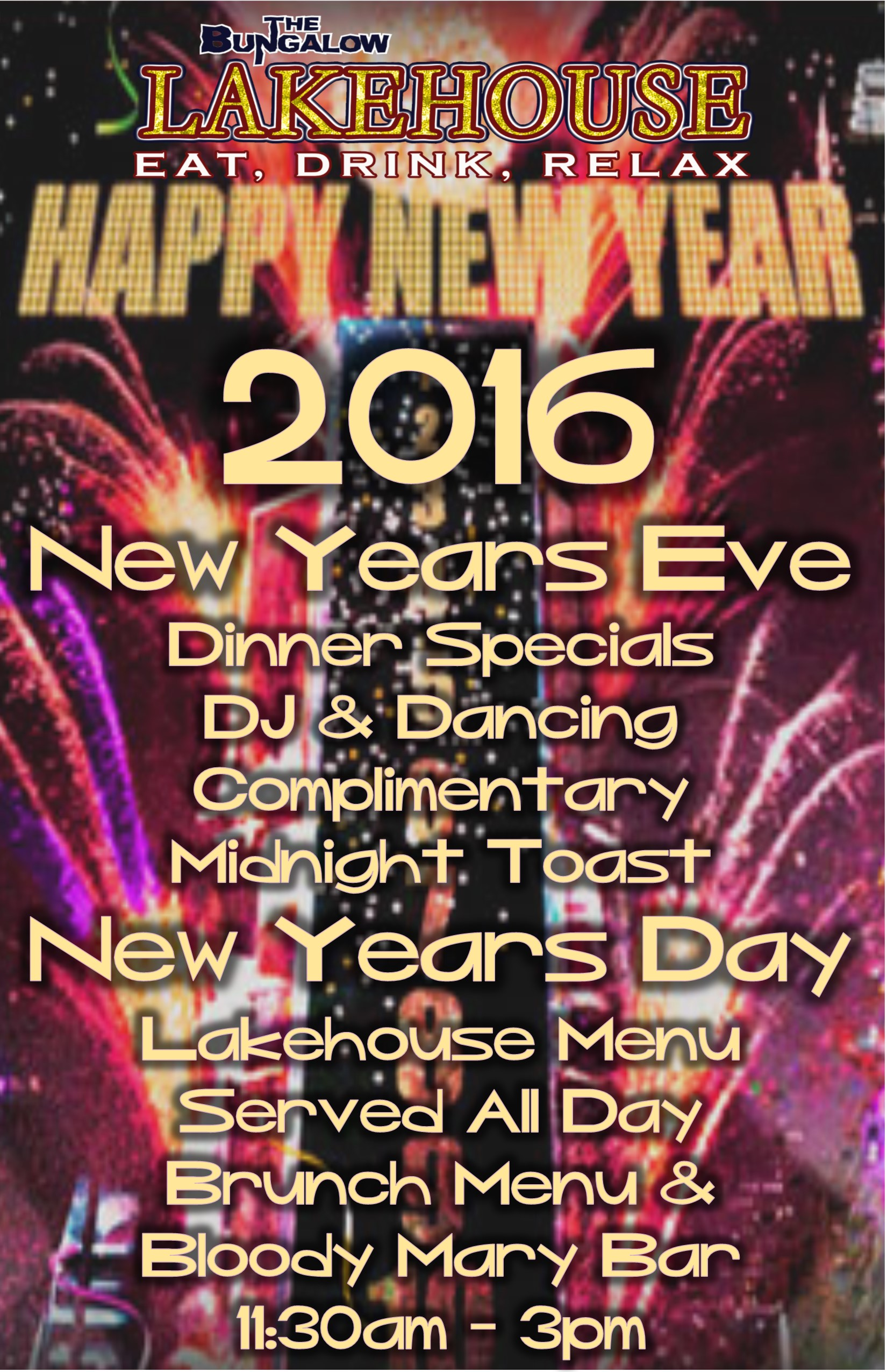 New years Eve Lakehouse 2015/2016