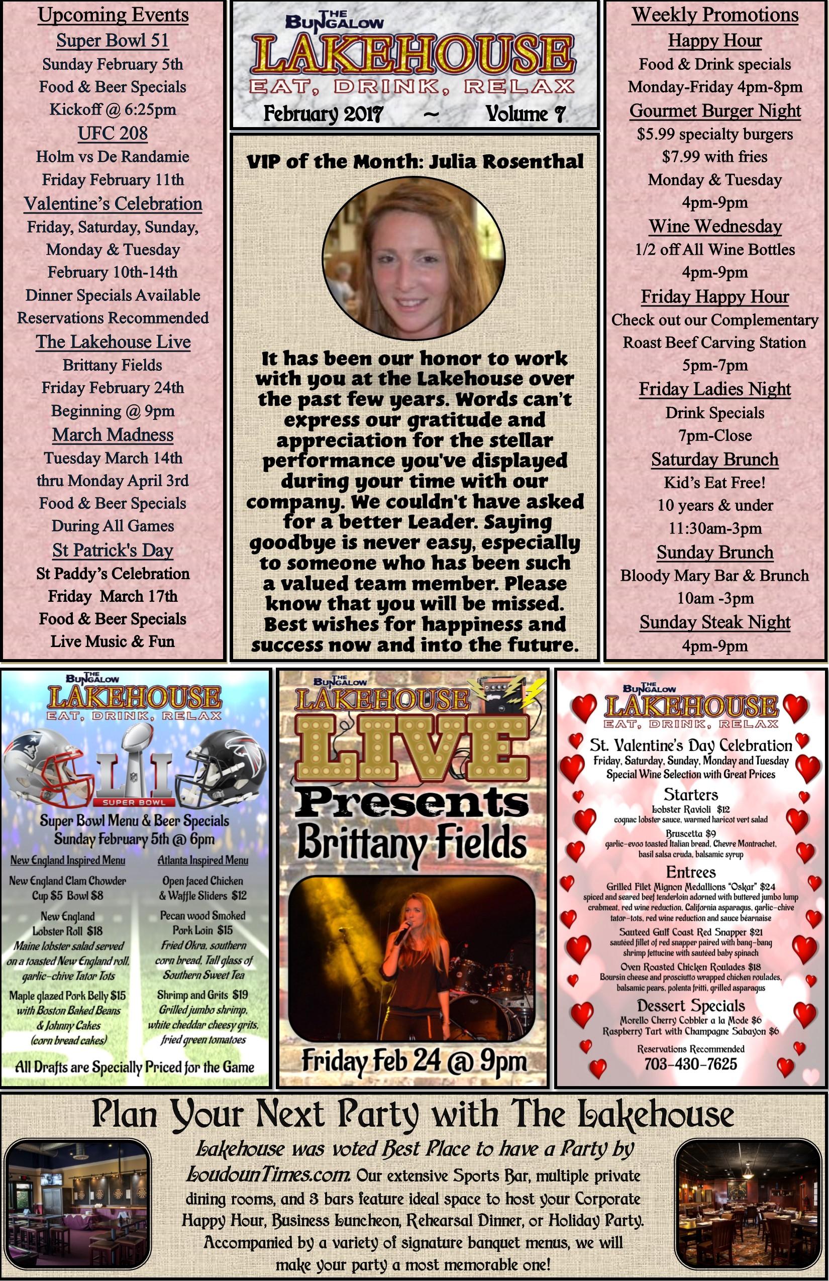 February 2017 Newsletter LH