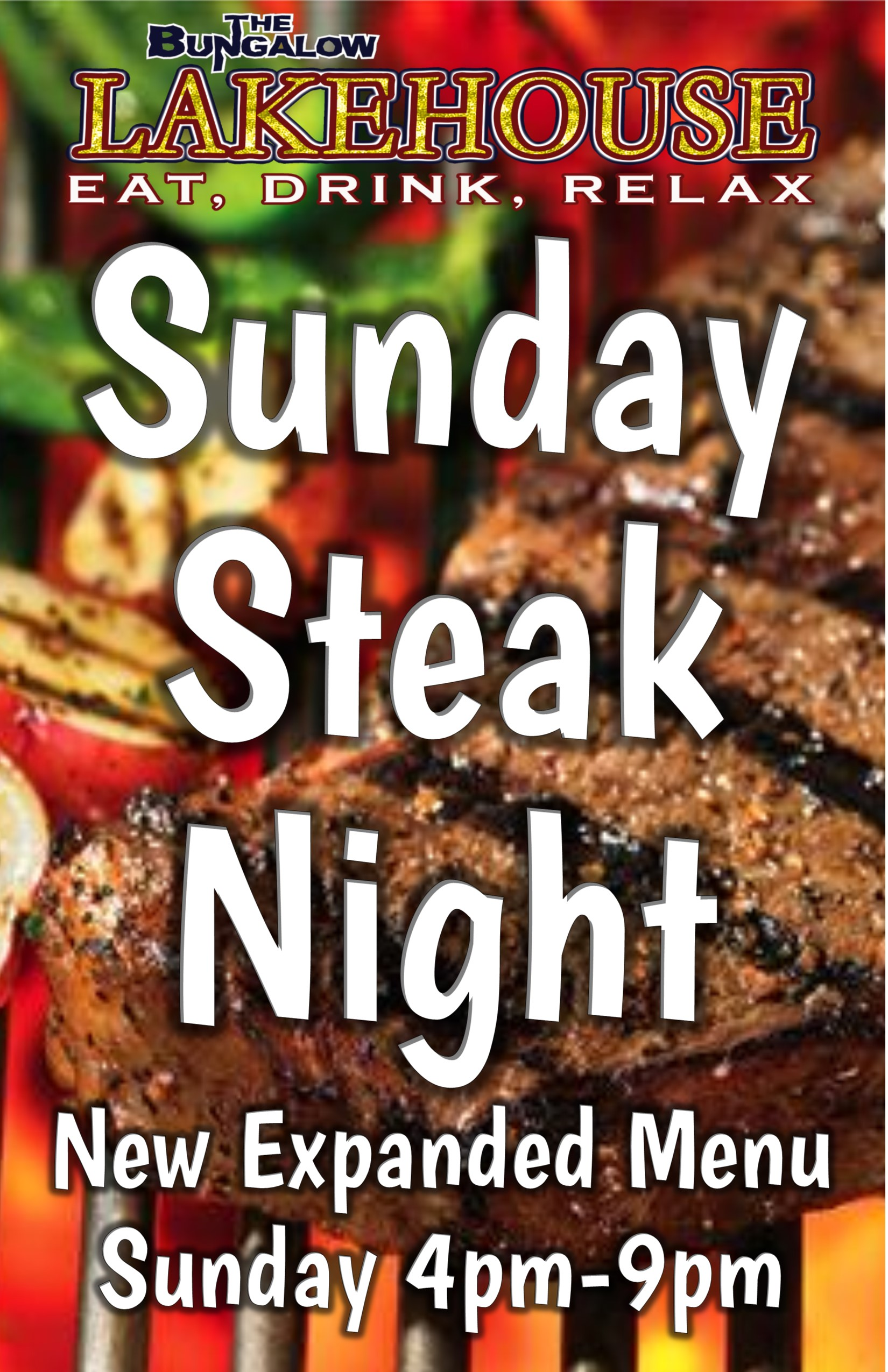 Lakehouse Steak Night Sunday