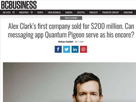 BC Business. Effectively reach your audience with Quantum Pigeon, says Alex Clark