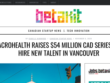 We're sourcing new tech talent from Vancouver, says health data platform MacroHealth