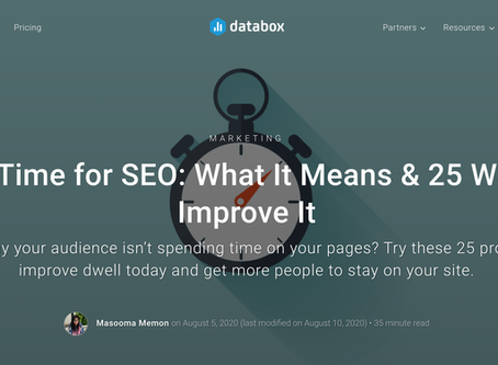 Databox. Optimize your landing page copy if you want readers to dwell on your page, says Unbounce.
