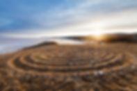 Labyrinth on the hill near Baikal lake a