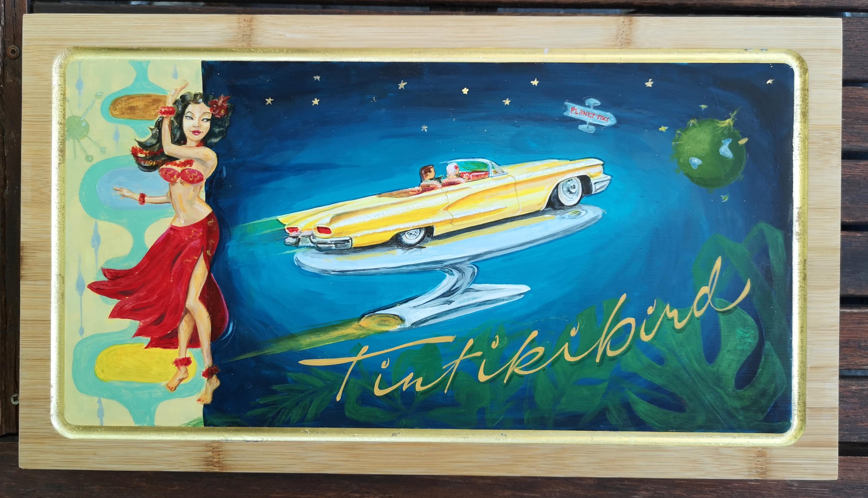 Lahjataulu Tiki-intoilijalle - Birthday sign for a Tiki lover