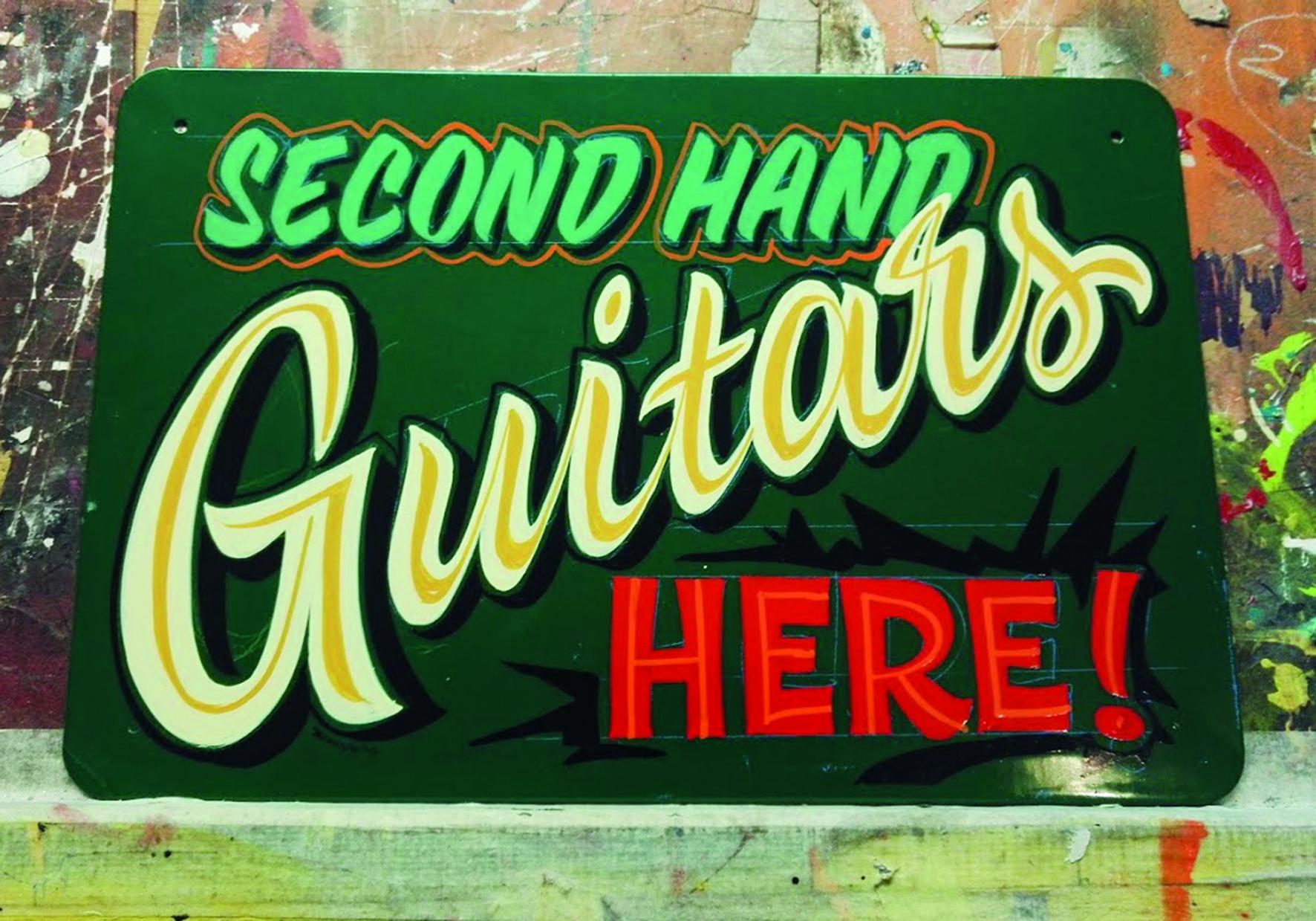 Kitarafriikin kyltti - Sign for a Guitar lover