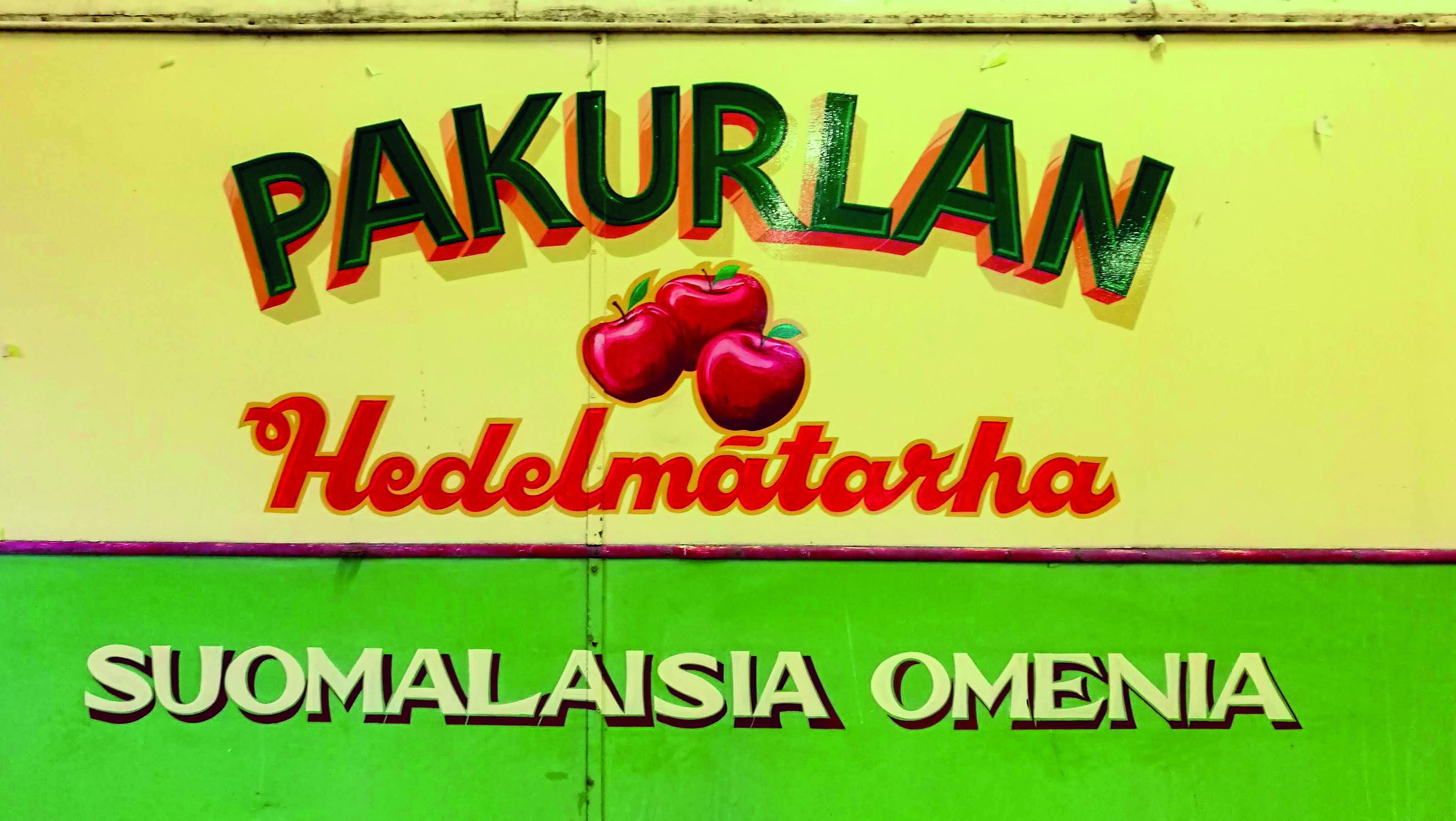 Omenafarmin esittelyauto - Apple farmer truck