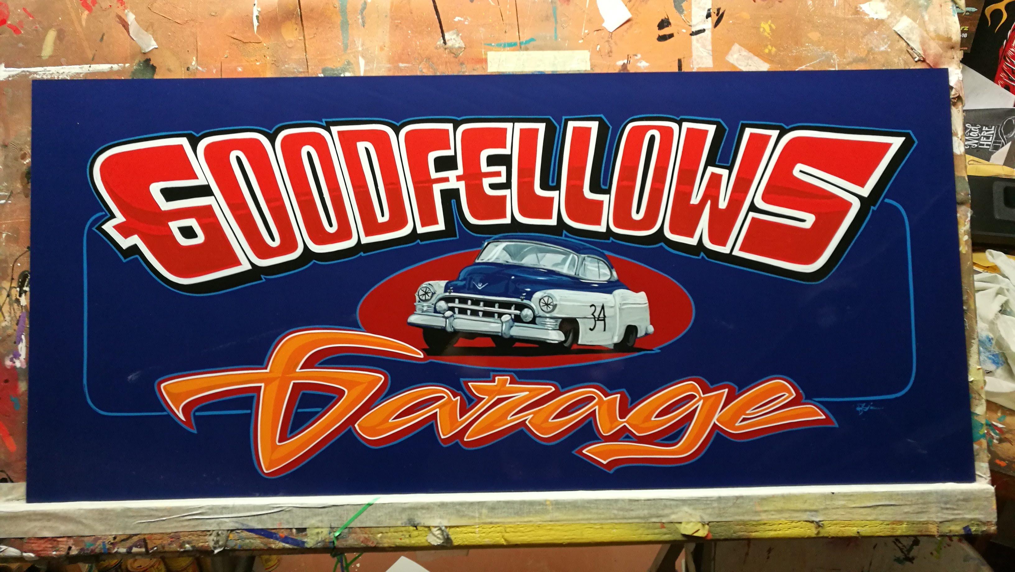 Tallikilpi Le Mans-racerille - HIstoric Le Mans garage sign