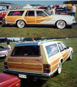 Our own Buick with custom woodgraining by Päivi