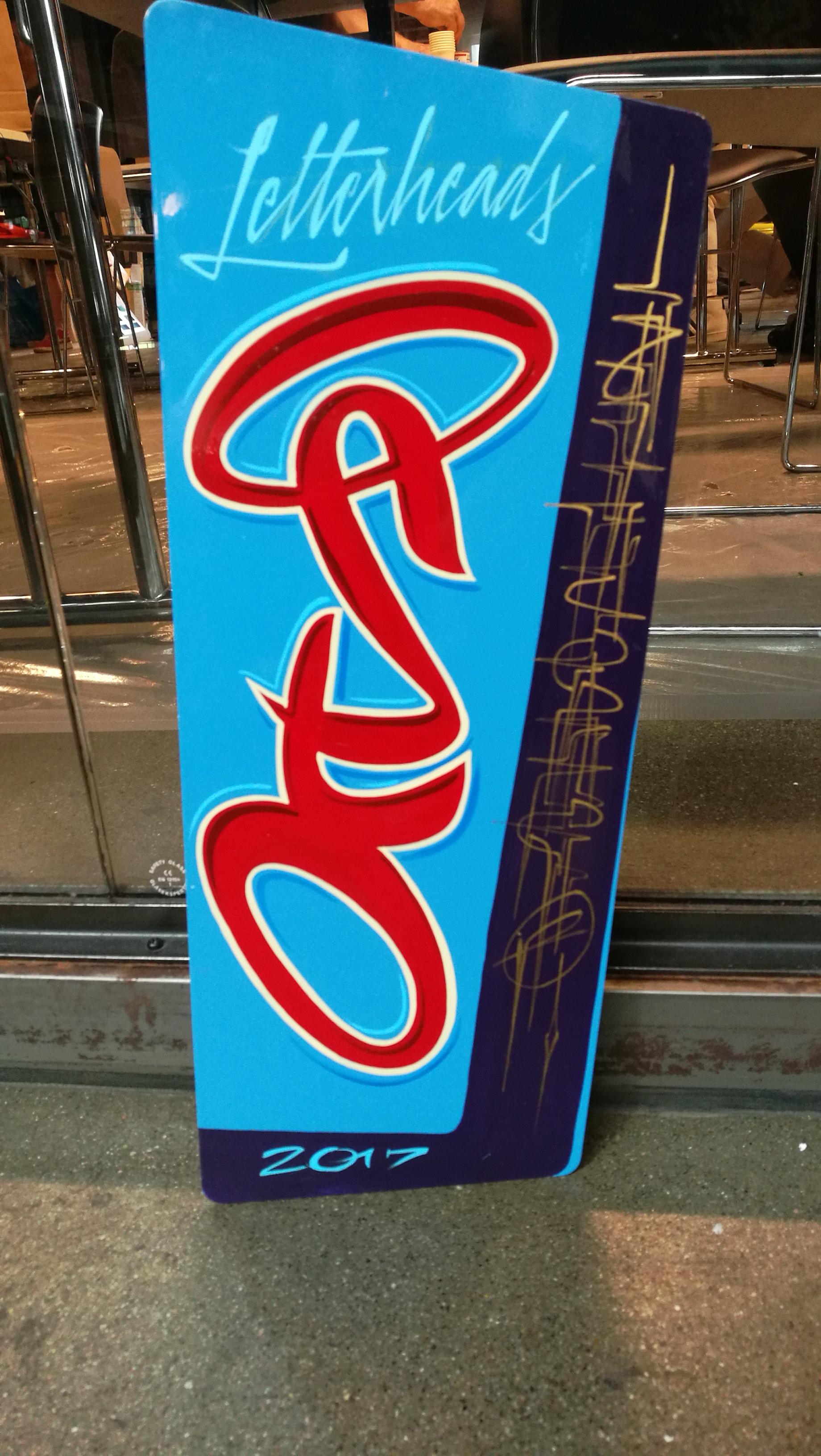 Kyltti Oslon Letterheads-tapahtumaan Sign for Oslo Letterheads