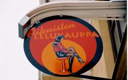 Aikuisten lelukauppa-kyltti -Adult toy shop sign
