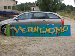 Verhoomokyltti Helsinki - Sign for an upholstery shop