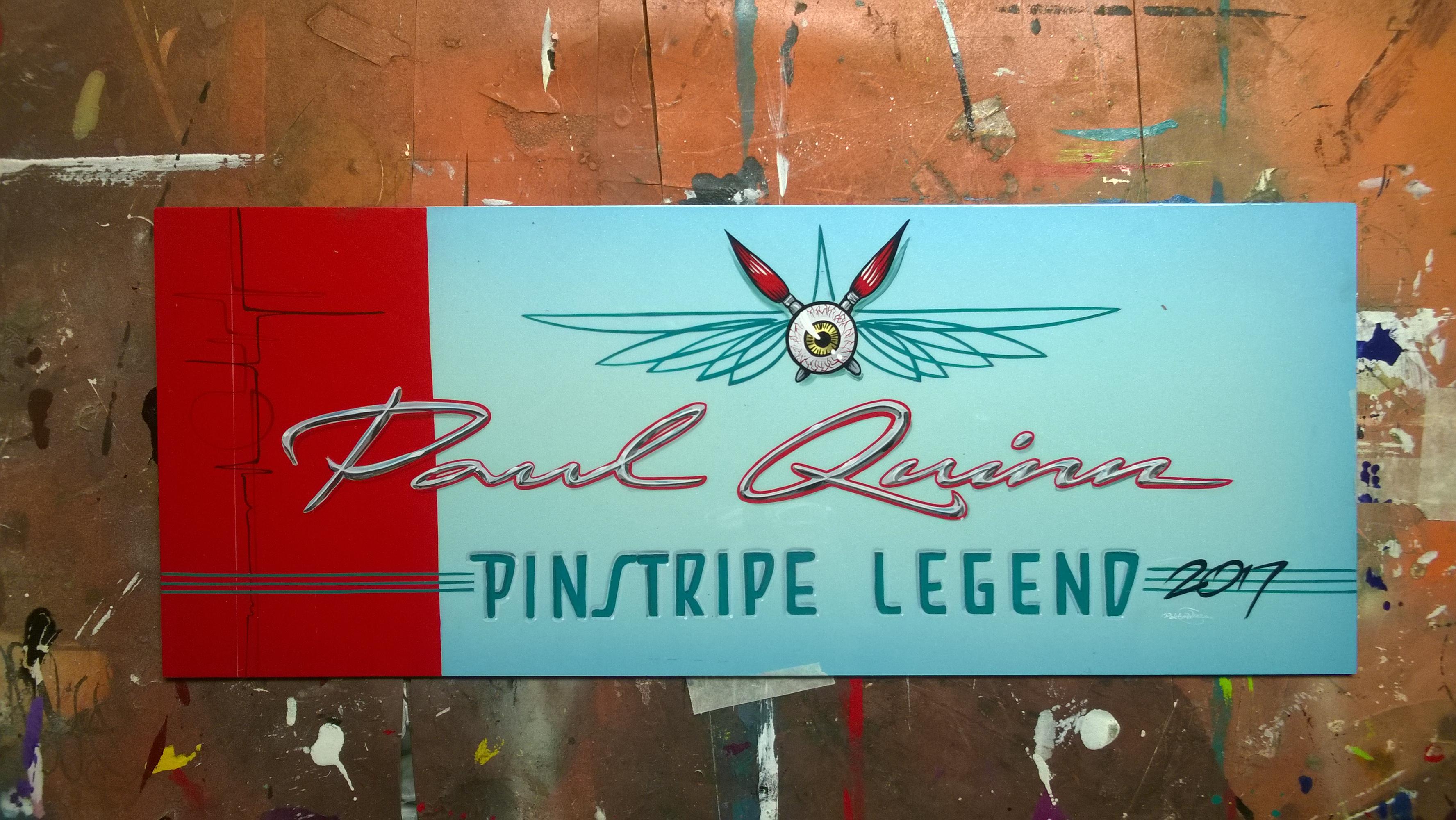 Paneeli PInhead Legends - nimetylle  Panel for Pinstripe Legends honoree
