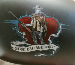 Harley custom tank lettering