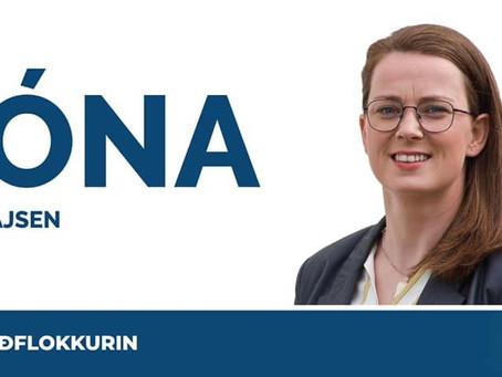 Jóna stillar upp fyri Miðflokkin