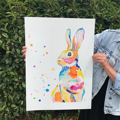 Artist Proof Bunny A2 size