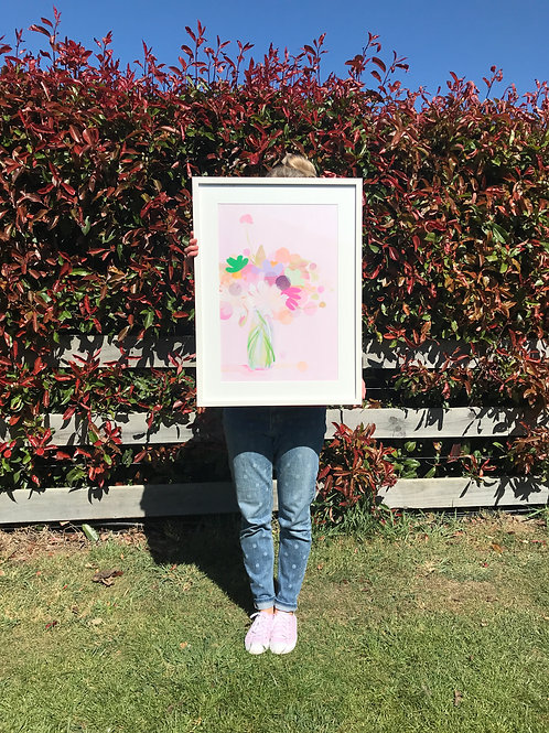 Cosmos and Co - Original framed painting