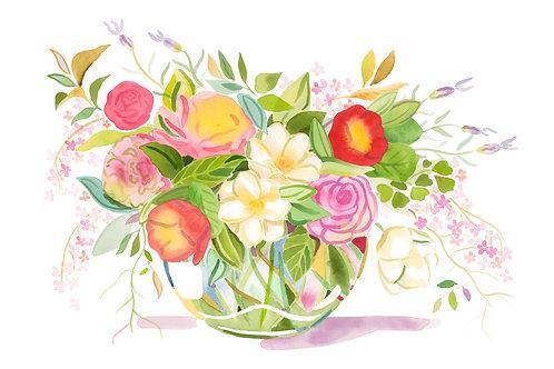 Camellia Bowl - Original painting