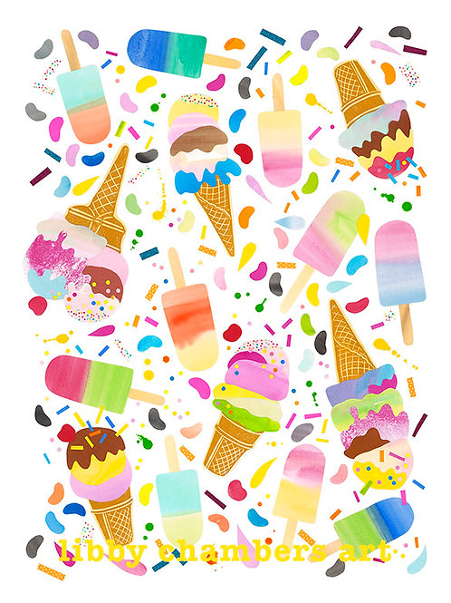 "A2 size ""Ice cream Dreams"""