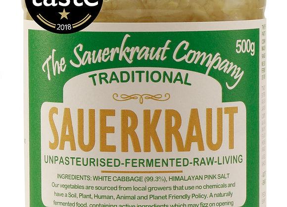 Award Winning Barrel Aged Traditional Sauerkraut (1x500g) Unpasteurised