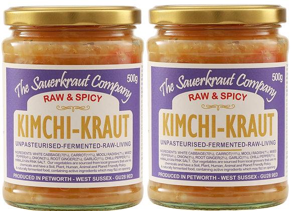 Barrel Aged Fermented Kimch-Kraut (2x500g) Unpasteurised