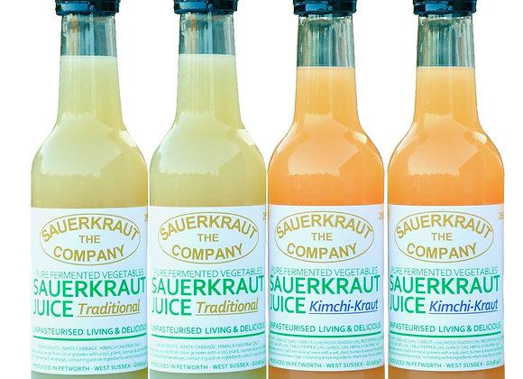 Sauerkraut Juice 2+2 Sauerkraut & Kimchi Kraut (260ml x 4)