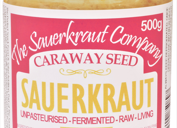 Barrel Aged Fermented Sauerkraut & Caraway Seed (1x500g) Unpasteurised