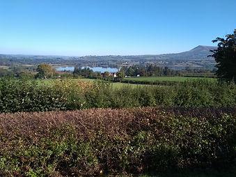 Llangorse Lake and Mynydd Troed from Llangasty
