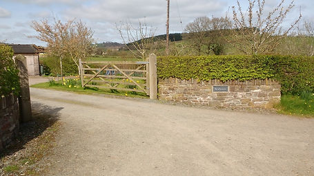 Entrance from lane to house and Crab App