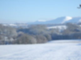 Winter View of The Black Mountains