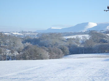 Beautiful winter view ofthe Black Mountains