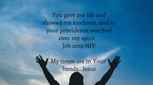 My times are in Your hands, Jesus.