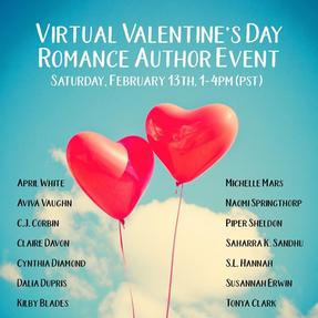 VIRTUAL VALENTINE'S DAY ROMANCE BOOK PARTY