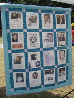 GA Faces of Suicide Life Quilt