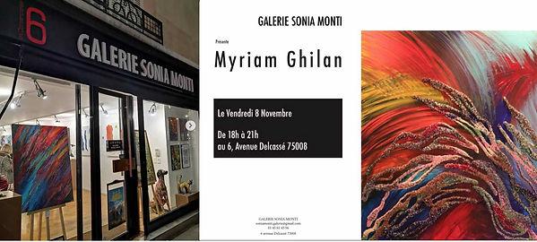 Myriam Ghilan exposition Galerie Sonia M
