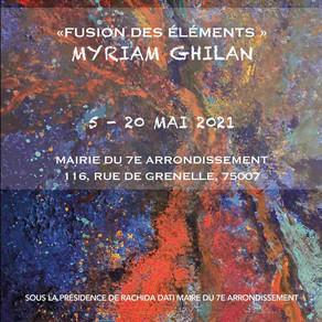 L'exposition de Myriam Ghilan fusionne les éléments à Paris