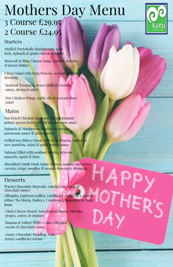 Mothers day 2020 Menu