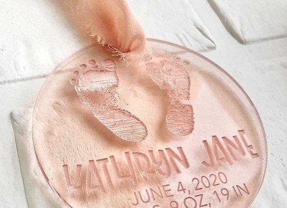 Footprint Baby Ornament