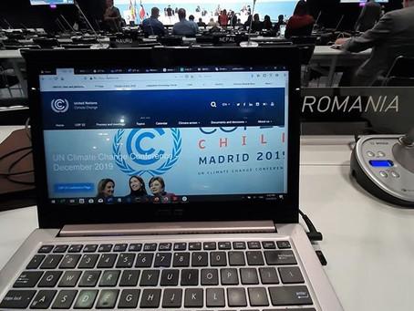 România la COP25 Madrid 2019: aspecte tehnice