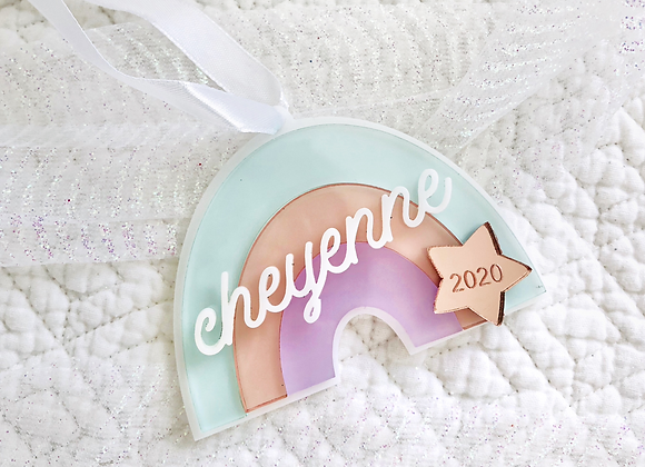 Rainbow ornament with name