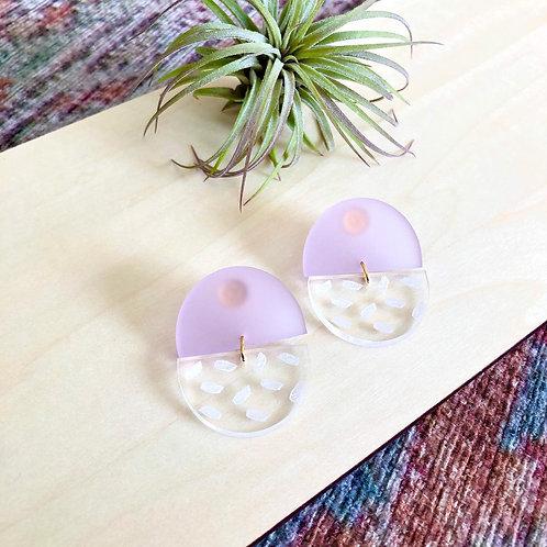 Purple Acrylic Earrings